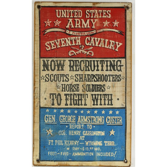United States Army 7th Cavalry Recruitment Sign