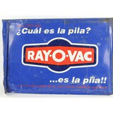 Ray-O-Vac Double Sided Spanish Sign