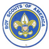 Boy Scouts of America Sign Single Sided