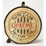 Sinclair Opaline Round Motor Oil Can