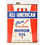 All American Motor Oil 2 Gallon Can