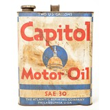 Capitol Motor Oil 2 Gallon Metal Can