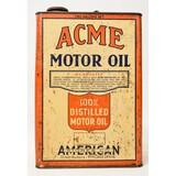 Acme Motor Oil 2 Gallon Metal Can