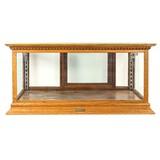 Table Top Glass Cabinet Oak
