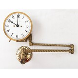 Waltham Gas Light Oil Lamp Timepiece Clock