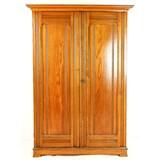 2-Door, 5 Shelf Large Wooden Cabinet