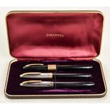 Lot of 3 Sheaffer's Pens in Presentation Case