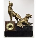 Marble Mantel Dog Clock