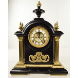 Ansonia Large Steel Case Mantle Clock