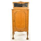 Antique Quarter Sawn Oak Music Cabinet