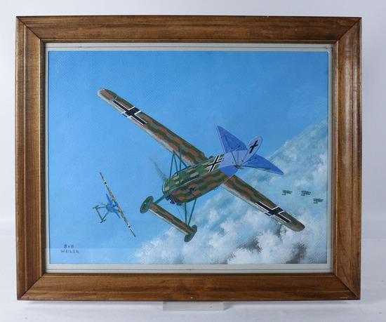 "Bob Weiler ""German Fokker D-8"" Painting"