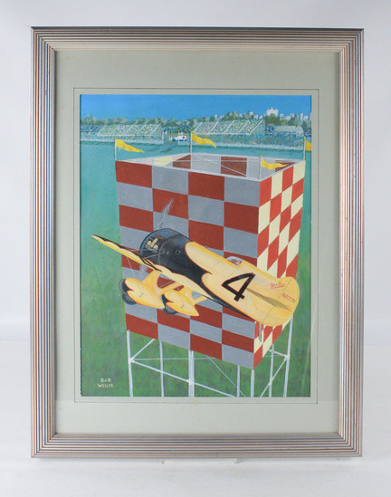 "Bob Weiler ""Airplane Race"" Painting"