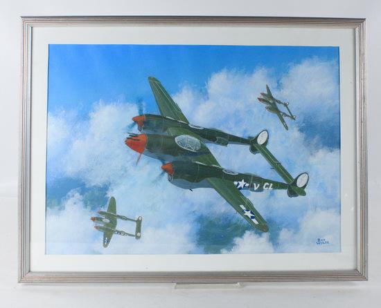 "Bob Weiler ""P-38"" Painting"