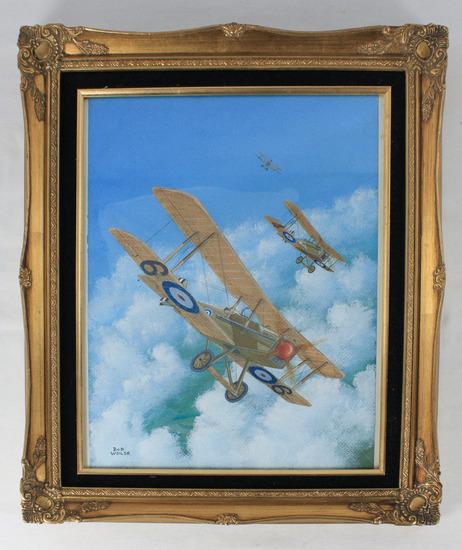 """Bob Weiler """"James McCudden's SE5a"""" Painting"""