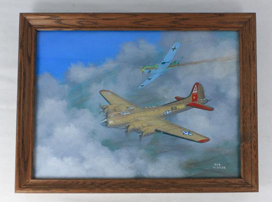 """Bob Weiler """"B-17 Bomber and Messerschmidt"""""""