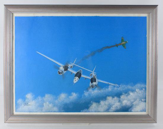 "Bob Weiler ""Lockhead P38"" Painting"