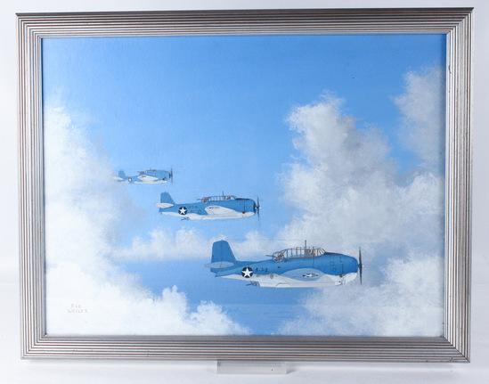 """Bob Weiler """"Grumman TBF Avenger"""" Painting"""