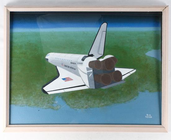 """Bob Weiler """"Shuttle"""" Painting"""