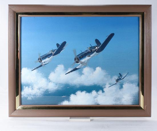 "Bob Weiler ""Vought F4V"" Corsair Painting"