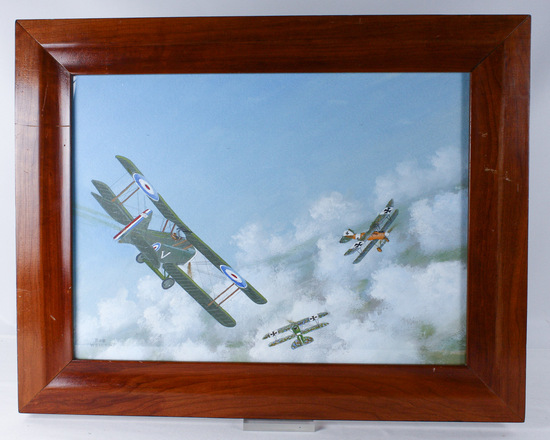 "Bob Weiler ""SE5a vs Albatros"" Painting"