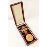 WWII German Catalog Artwork & Cased Medal