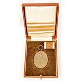WWII German Cased Medal and Artwork