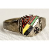 WWI Central Powers Germany et al Enameled Ring