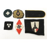 6 Pieces of Misc. WWII German Insignia