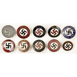 Lot of 10 German Party Pins