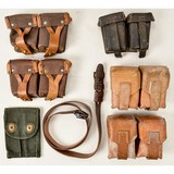 Lot of 6 Cartridge Pouches & Sling