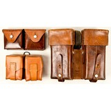Lot of 3 Leather Ammo Pouches