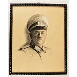 WWII German Pencil Artwork of Army General