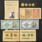 Misc. Lot of WWII Reichsmark Coupons, ID etc