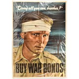 WWII Buy War Bonds Poster