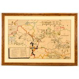 71st Infantry Division WWII Map of Europe