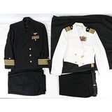 Lot of 2 US Navy Captain Uniforms