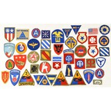 150+ WWII US Shoulder Patches