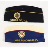 Lot of 2 Veteran's Association Side Caps