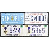 Lot of 4 Patriotic License Plates