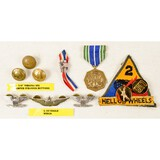 Lot of Pins, Medals, and Patches US