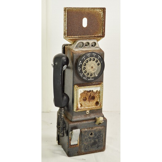 Rotary Dial Coin Op Pay Phone
