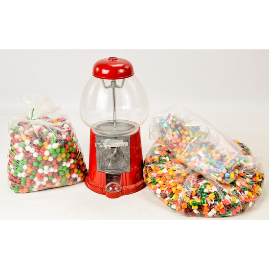 Gum Ball Machine & Large Box of Gum Balls