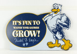 Nickel B. Eagle Saving Grow Single Sided Sign