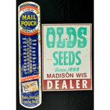 Mail Pouch Thermometer, Old Seeds Sign