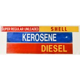 Lot of 4 Shell Signs