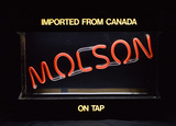 Molson Light up Beer sign