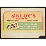 Sklut's Shoe Advertising Sign