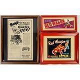 Coaster, Red Wagon Framed Advertising (3)
