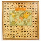 Illustrated Map of Dogs Wall Art