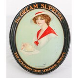 Vintage Ice Cream Advertising Serving Tray